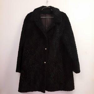 Vintage Jackets & Coats - Vintage Black Persian Lamb Fur Coat Stunning